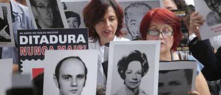 Protesto contra a ditadura militar