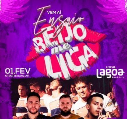 Bloco Beijo Me Liga realiza ensaio na Lagoa Food Park