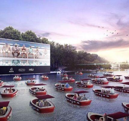 Paris terá cinema flutuante com distanciamento entre barcos