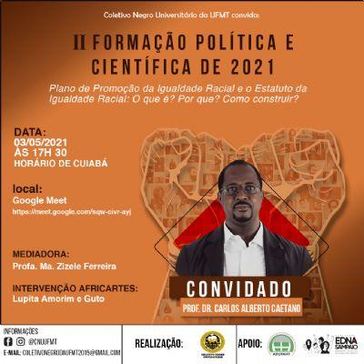 Coletivo Negro da UFMT promove Formação Política e Científica