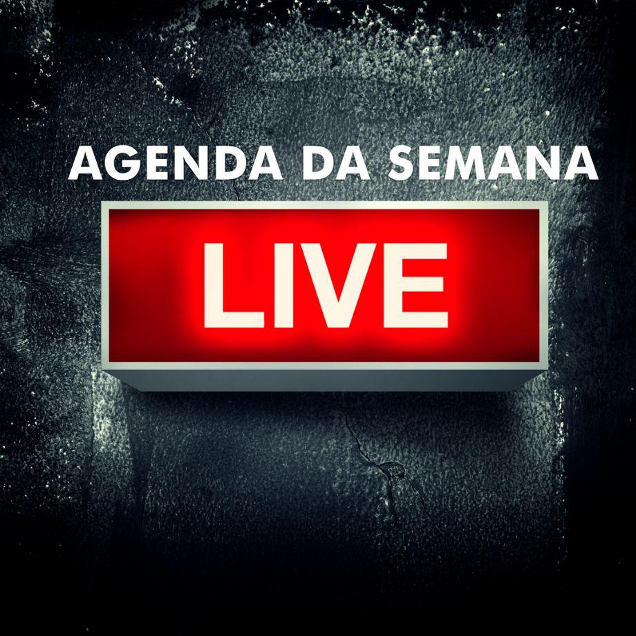 Confira as datas, horários e links das lives da semana :: Leiagora |  Playagora | Entretê