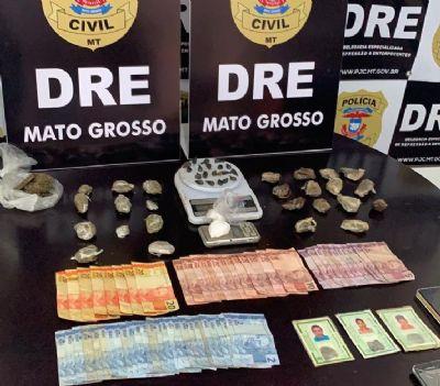 Polícia Civil prende dois homens e duas mulheres por tráfico de drogas no bairro Canjica