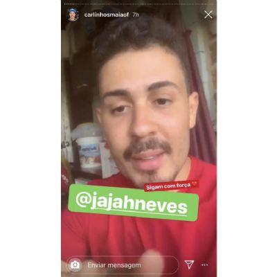 Carlinhos Maia indica perfil de Jajah Neves no Instagram