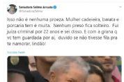 Selma ironiza namoro de Lula; 'com o dinheiro que tem, não fica solteiro'