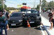 Quatro veículos colidem em acidente de trânsito em VG