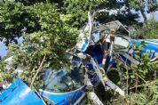 Aeronave cai e deixa dois idosos feridos na Transpantaneira; um ficou preso às ferragens