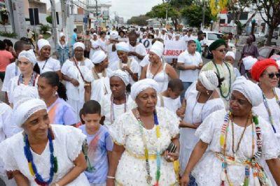 Evento afro-religioso de combate a intolerância é realizado no domingo