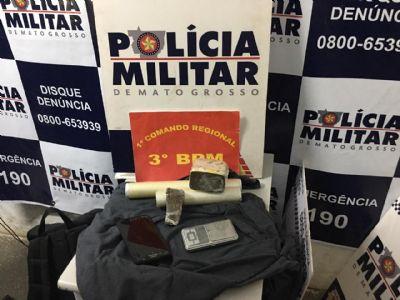 Drogas e revólver são apreendidos pela PM em Cuiabá