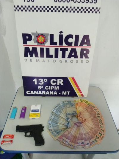 Após roubo a relojoaria em Canarana, suspeito é preso com arma falsa