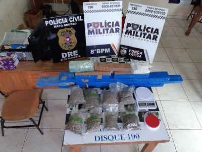Ação conjunta prende sete membros de facção com drogas e armas