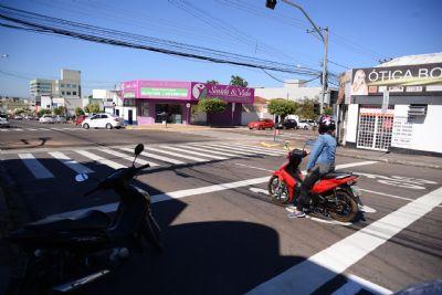 Serviço de sinalização das vias recapeadas da região central avança