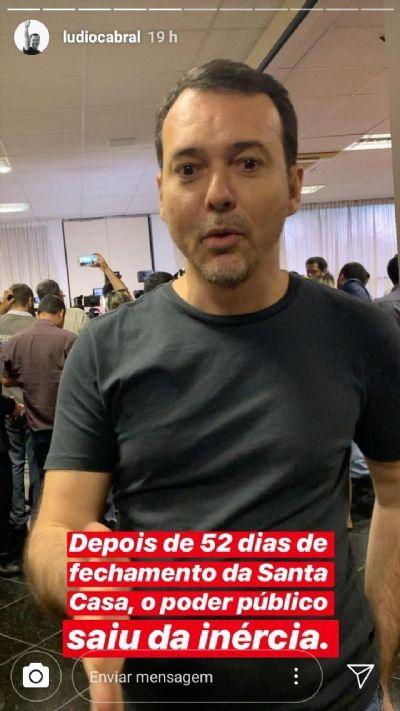 Lúdio parabeniza Mendes por intervir na Santa Casa