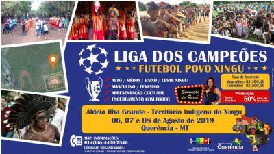 2ª edição da Liga dos Campeões de Futebol Povo do Xingu será realizada em Querência