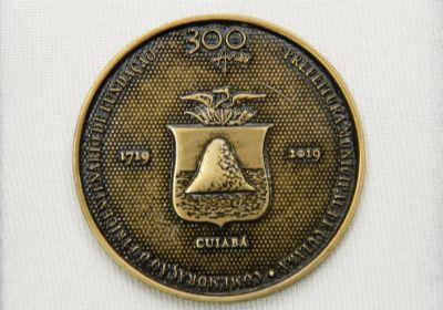 Lançamento da Medalha dos 300 Anos de Cuiabá será nesta quinta