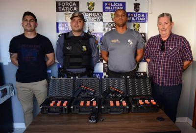 Prefeitura doa 50 pistolas de choque para uso da Polícia Militar