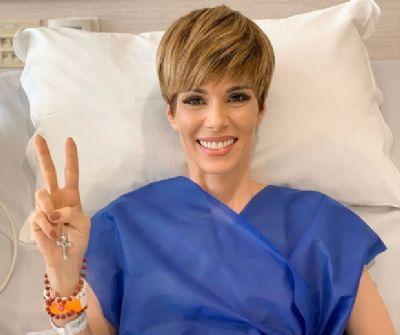 Ana Furtado retira cateter e encerra ciclo de tratamento contra o câncer