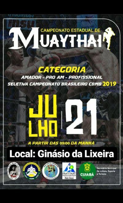 3ª etapa do Mato-grossense de Muay Thai será realizado em Cuiabá