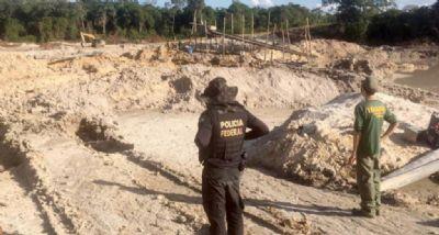 PF combate extração ilegal de ouro no norte do Estado