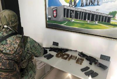 Bope localiza fuzis e munições de quadrilha que atirou em policial da Rotam