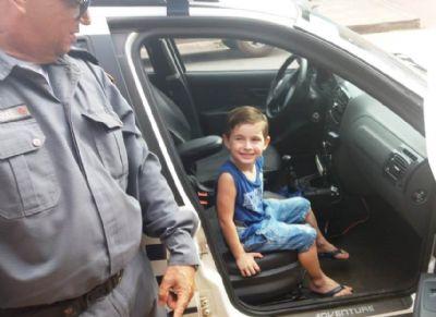 PM realiza sonho de criança em Rosário Oeste