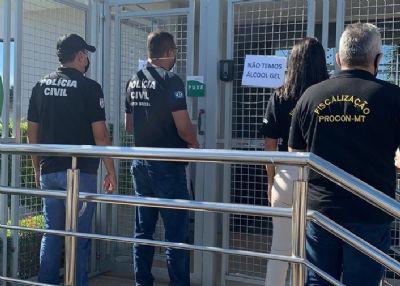 Polícia Civil e Procon fiscalizam distribuidora de produtos médicos e hospitalares