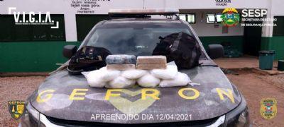 Gefron prende dois suspeitos de tráfico na fronteira com a Bolívia
