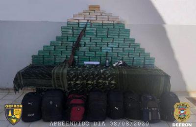 Gefron apreende 170 kg de cocaína; 5 suspeitos morrem após troca de tiros