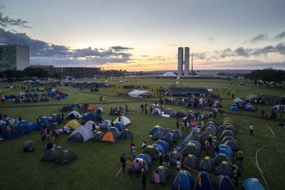 Indígenas de Mato Grosso participam do Acampamento Terra Livre, em Brasília