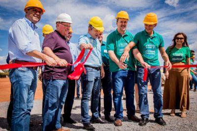 Mendes participa de inauguração de ampliação de usina de etanol em Sorriso