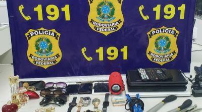 Casal é preso com objetos furtados de residência em Jaciara