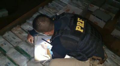 PRF apreende 1,7 tonelada de agrotóxicos contrabandeados
