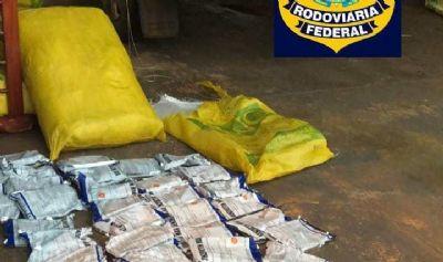 Cerca de 700kg de agrotóxico contrabandeado são apreendidos pela PRF na BR-163