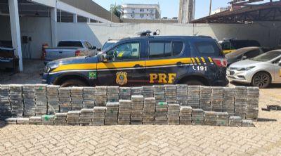 PRF apreende 557kg de cocaína e prejuízo ao narcotráfico chega aos R$ 70 milhões