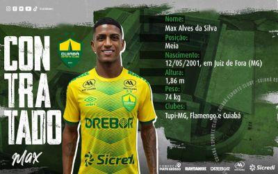 Dourado anuncia novo reforço: Max, emprestado pelo Flamengo