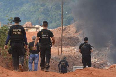 Ordem judicial que deu fim a garimpo ilegal decorre de investigação da PF