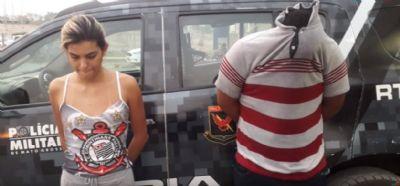 Dupla é presa com carro que era utilizado na prática de assaltos em Cuiabá; veja vídeo