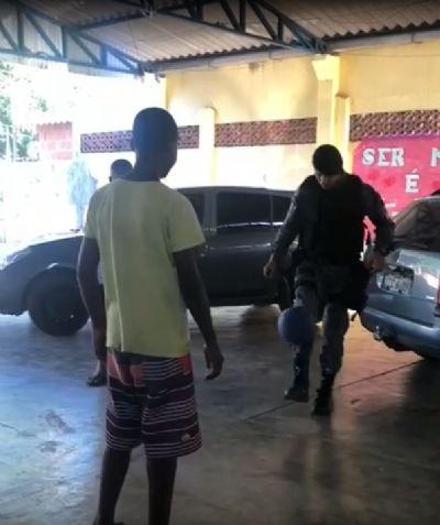 Equipe da Rotam visita unidade do Cras em Cuiabá; vídeo