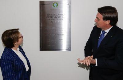 Bolsonaro e ministra inauguram Observatório da Agropecuária Brasileira