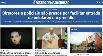 O jornal O Estado de Mato Grosso volta a circular em Cuiabá