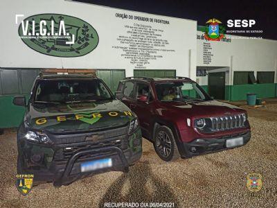 Gefron recupera veículos e prende duas pessoas na fronteira