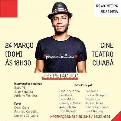 Amigos de André D'Lucca organizam espetáculo em sua homenagem no próximo domingo