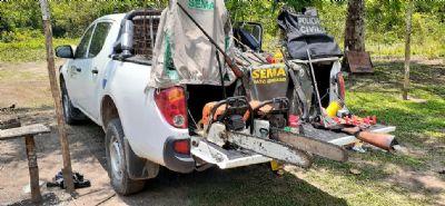 Fiscalização combate crimes ambientais no Parque Estadual do Cristalino