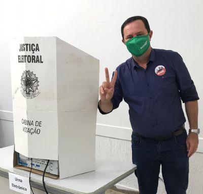 Barranco vota em Nova Bandeirantes, ignora pesquisas e aposta na vitória