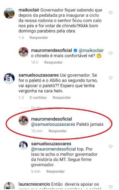 'Paletó jamais', diz Mauro sobre segundo turno