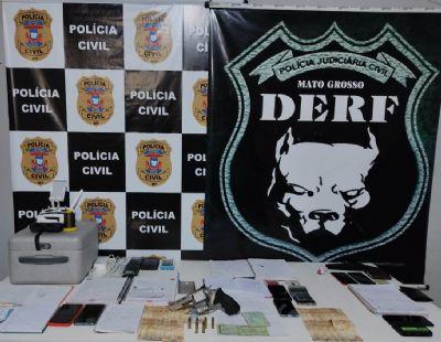 Quatro pessoas são presas e escritório de golpes é fechado em Rondonópolis
