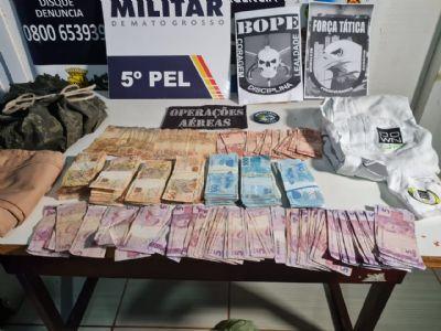 Bope encontra mais R$ 45 mil em região de mata, em Nova Bandeirantes