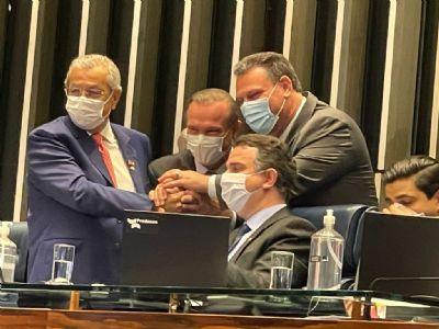 Senadores de MT convidam comitiva do Parlamento para assinatura do contrato da ferrovia