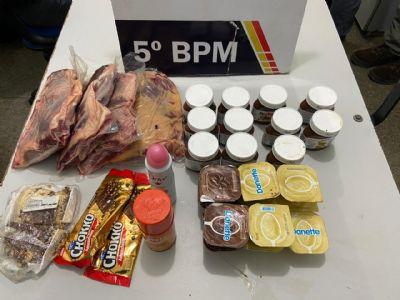 Homem furta picanha, nutella e danette de mercado