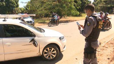 Motociclista é levado para a UPA após acidente em Sorriso