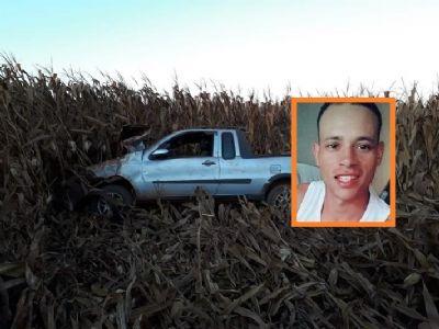 Jovem morre após capotamento em estrada vicinal
